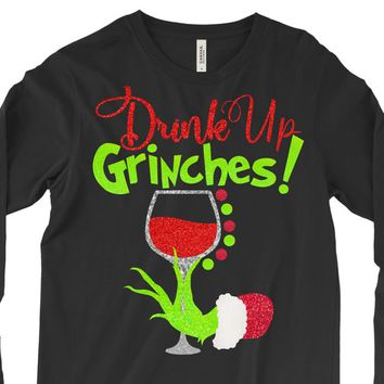 Drink Up Grinches,Grinch Hand,Grinch Shirts,The Grinch svg,Drink Up Grinch,Christmas Grinch Hand,Cricut Designs,Silhouette Designs