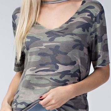Camo Soft Distressed Tee