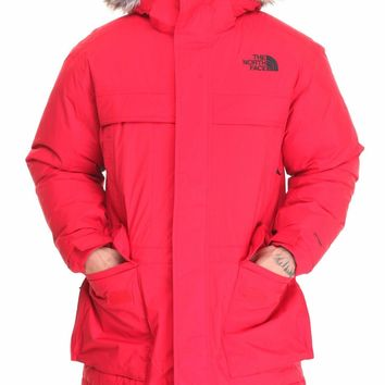 NEW THE NORTH FACE MEN¡¯S MCMURDO PARKA II 550-FILL GOOSE DOWN LARGE TFN RED