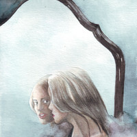 Original watercolor painting of Mirror Images art