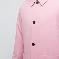 Reclaimed Vintage Inspired Striped Coach Shirt In Pink at asos.com