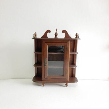 Wall organizer, french vintage, collectible display, french chic, display case, bathroom storage, storage cabinet, vintage cabinet, cabinet