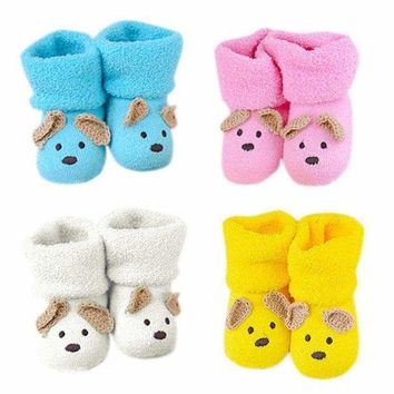 Cartoon Newborn Infant Warm Socks Anti-slip Baby Socks Booties Slipper Boots USA