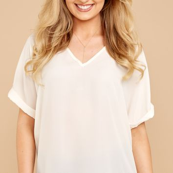 Chic Cream Top - Cute Top - Top - $32.00