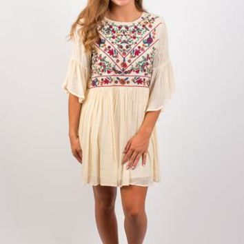 Feeling Floral Dress - Cream