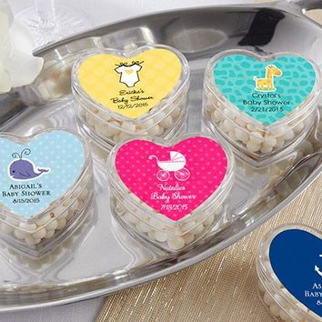 Heart Favor Container - Baby (Set of 12) (Available Personalized)