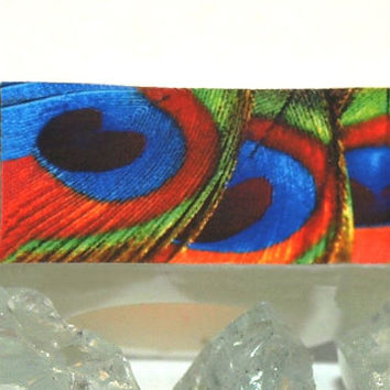 Peacock Feather Ring, Resin Ring, Wearable Art Jewelry, 2015 Ring Trends, Blue, Green, Red Colors, Gift for Her, ResinHeavenUSA