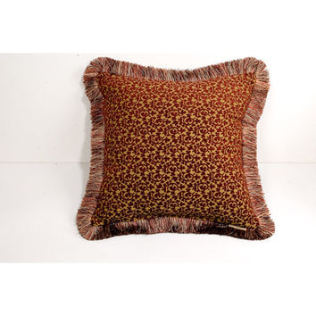 Canaan Company P-846-W 20x20 Brush Fringe Trim Accent Pillow