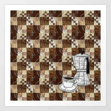 smells like coffee Art Print by Bozena Wojtaszek