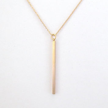Simple, Modern, Drop, Bar, Gold, Silver, Necklace, Best friend, Lovers, Birthday, Gift, Jewelry