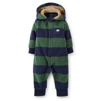 1-Piece Hooded Microfleece Jumpsuit