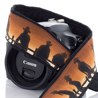 Cowboy Camera Strap dSLR, Southwestern, Cowgirl, Western, SLR, Pocket, Neck Strap, Photography, mirrorless, men's camera strap, 189