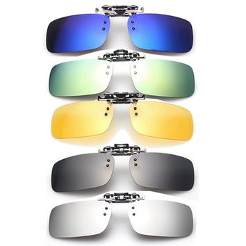 Unisex Polarized Clip On Sunglasses Driving Night Vision Lens Anti-UVA Anti-UVB Cycling RRiding Sunglasses Clip