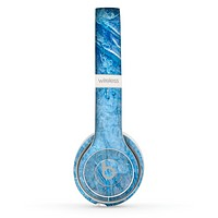 The Deep Blue Ice Texture Skin Set for the Beats by Dre Solo 2 Wireless Headphones