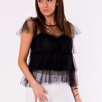 BLOUSE -BLACK 48025-1