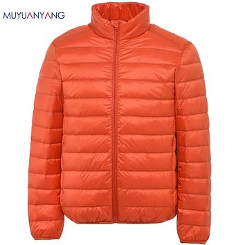 Men Down Jackets Stand Collar Casual White Duck Down Coats For Male Ultralight Down Jackets