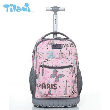 Kids Rolling Luggage Backpacks Kid School Backpacks with wheels kid suitcase children luggage Wheeled backpacks bag for school