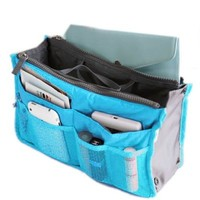 Buypretty New Women Travel Insert Handbag Organiser Purse Large liner Organizer Tidy Bag--blue