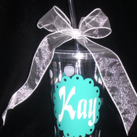 Personalized cup 16 oz. Acrylic Tumbler with lid and straw