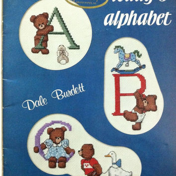 Teddy's Alphabet Counted Cross Stitch Patterns By Dale Burdett Softcover Book