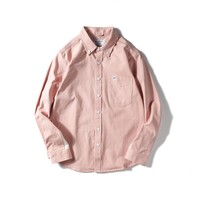 Cotton Patchwork Casual Long Sleeve Shirt [10800262211]