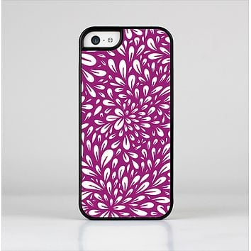 The Purple & White Floral Sprout Skin-Sert Case for the Apple iPhone 5c