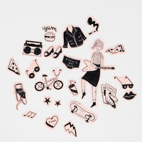 Urban Outfitters - Melissa Chaib Girl Gone Punk Sticker Sheet