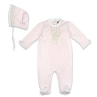 Harry & Violet 2-Piece Footed Coverall Set in Purple
