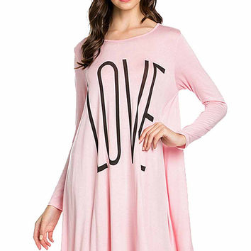 """Love"" Swing Dress"