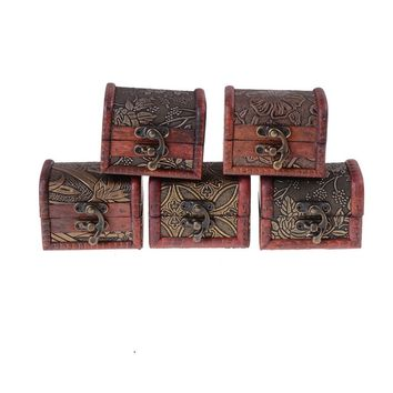 1PC Vintage Style Small Wood Wedding Jewelry Box Ring Necklace Bracelet Holder Excellent Choose