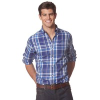 Chaps Wolcott Plaid Classic-Fit Button-Down Shirt