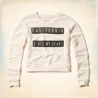 California Stole My Heart Graphic Sweatshirt