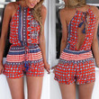 Red Cut Out Strappy Romper