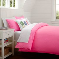 Color Wash Surf Duvet, Twin, Hot Pink