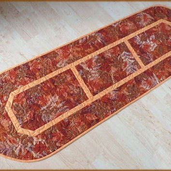 Quilted Autumn Table Runner Harvest 802