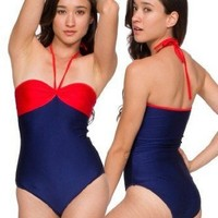 American Apparel Nylon Tricot Bandeau Swimsuit