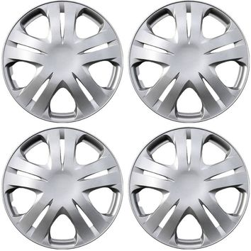 Hubcaps for Honda Insight 15 Inch Set of 4 Pack Steel Rim Wheel Cover ABS Silver