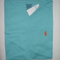 Polo Ralph Lauren T Shirt V Neck Size S M L XL - Classic Fit - Assorted Colors