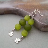 Green clover shamrock earrings delicate christmas gift idea for her St. Patrick's Day gift package