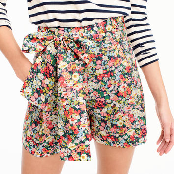 Tie-waist short in Liberty® Thorpe floral