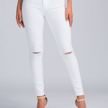 Slit Out Skinny Jeans