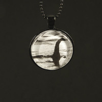 Loch Ness Monster Necklace - Nessie - Horror - Photo Jewelry