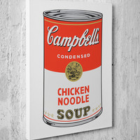 Andy Warhol Campbell's can chicken noodle soup canvas - paper wall art print poster