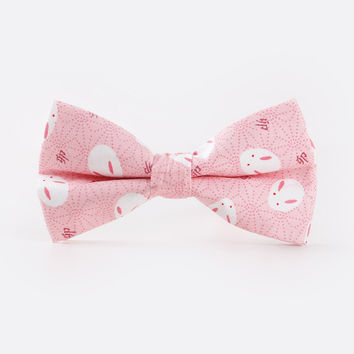 Pre Tied Pink Mouse Men's Bowtie Cotton