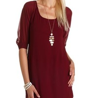 Cutout Back Shift Dress: Charlotte Russe
