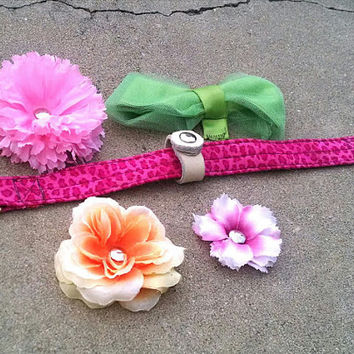 Interchangeable Flower And Bow Accessories For Collars and Leashes
