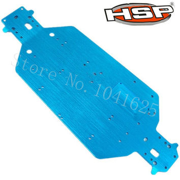 HSP 04001 Aluminum Chassis Metal 6061 For EP RC 1 10 Off Road Buggy Monster Truck 94107 94111 BRONTOSAURUS XSTR Upgrade Parts