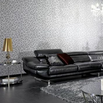 Contemporary Black Drop Patterned Sofa