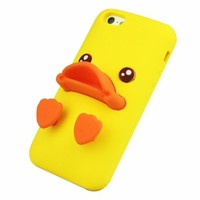 Rubber Duck Soft Silicon Phone Case For iPhone 5/5S (Yellow)