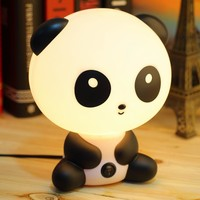 1pcs pretty Cute Panda Cartoon animal night light Kids Bed Desk Table Lamp Night Sleeping led night lamp Chrismas Gift